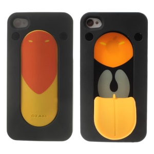 Ozaki Faagaa Plastic Hard Case for iPhone 4S 4 w/ Tongue Snap Stand - Hill Myna