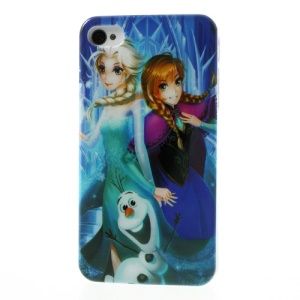 Frozen Movie Anna Elsa Olaf Glossy Hard Shell for iPhone 4 4s