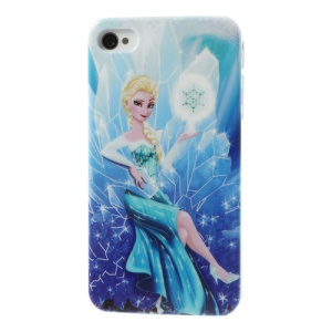 Frozen Cartoon Elsa Glossy Hard Back Shell for iPhone 4 4s