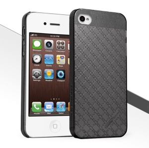 HelloDeere Jewel Series Strong Hard Case Cover for iPhone 4S 4 - Black