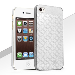 HelloDeere Jewel Series Strong Hard Back Case for iPhone 4S 4 - Silver