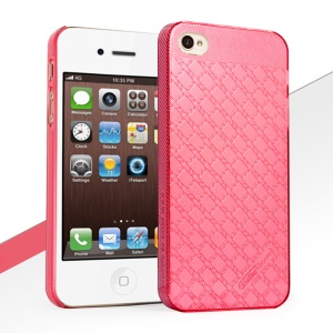 HelloDeere Jewel Series Deluxe Hard PC Cover for iPhone 4S 4 - Magenta