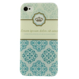 Crown Flowers Hard Case Shell for iPhone 4 4s