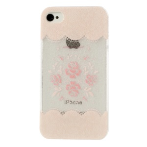 Pink Flowers Hard Shell Case for iPhone 4 4s