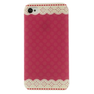 Lace Flowers Hard Back Case for iPhone 4 4s