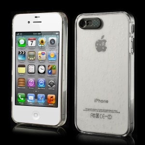 Van.D for iPhone 4 4s Galaxy Pattern Flashing LED Light Up Crystal Hard Case - Grey