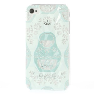 For iPhone 4 4s Charming Lady 3D Pyramid Design Durable Hard Jacket Case