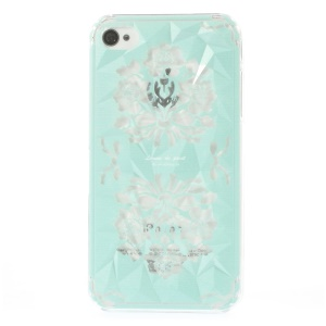 For iPhone 4 4s Femme De Pivot Graceful Flower 3D Pyramid Design Hard Case Cover