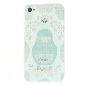 For iPhone 4 4s Small Pyramid Design Hard Case Russian Matryoshka Doll Pattern