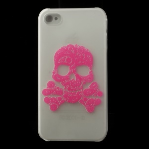 Skull & Cross Bones Pattern for iPhone 4S 4 Noctilucent Matte PC Case