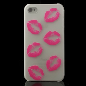 Sexy Lips Pattern for iPhone 4S 4 Noctilucent Matte Plastic Shell Case