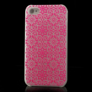 Traditional Flowers Pattern for iPhone 4S 4 Noctilucent Matte Hard Back Case