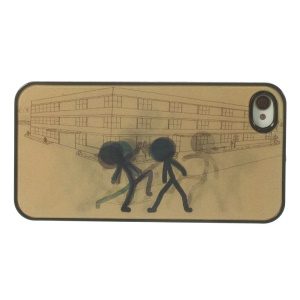 People Walking Through the Corner 3D Effect PC Hard Case for iPhone 4 4s