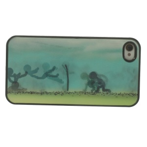People Playing on the Grass 3D Effect PC Hard Back Cover for iPhone 4 4s