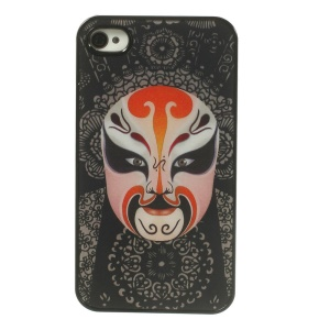 Chinese Opera Facial Makeup 3D Effect PC Hard Case Shell for iPhone 4 4s