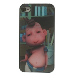 For iPhone 4 4s Cute Boy Dynamic 3D Effect Hard Plastic Case