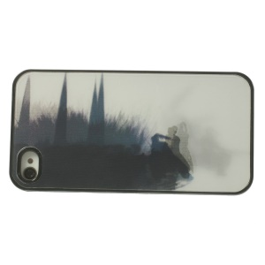Dynamic 3D Effect Swordsman Fighting with Monster Hard Back Case for iPhone 4 4s