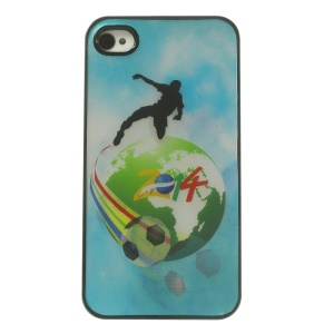 2014 Brazil World Cup Shooting Dynamic 3D Effect Hard Cover Case for iPhone 4 4s