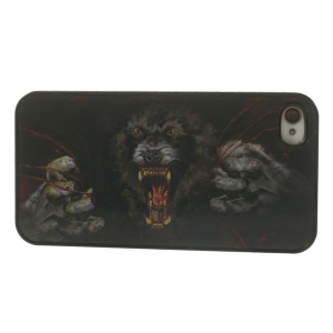 Vivid 3D Effect Horrible Howling Monster Plastic Hard Case for iPhone 4 4s