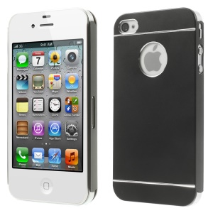 Black for iPhone 4s 4 Slim Hard Metal Case