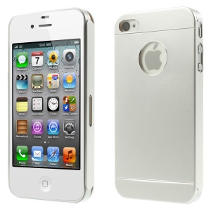 Silver for iPhone 4s 4 Slim Hard Metal Cover
