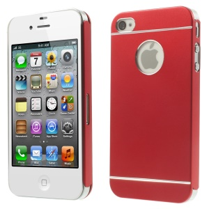 Red for iPhone 4s 4 Slim Hard Metal Shell