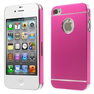Rose for iPhone 4s 4 Slim Hard Metal Shell Cover