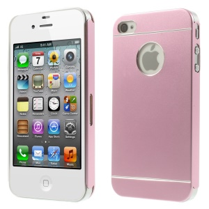 Pink for iPhone 4s 4 Slim Hard Metal Case Cover