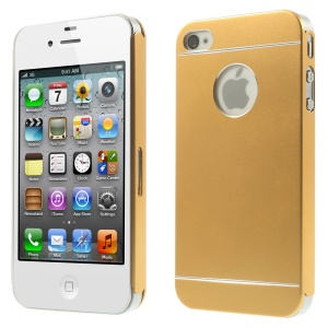 Gold for iPhone 4s 4 Slim Hard Metal Back Case