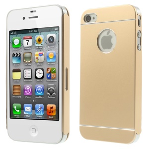 Champagne for iPhone 4s 4 Slim Hard Metal Back Cover