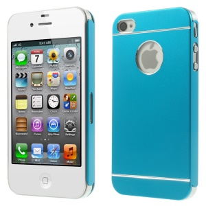 Light Blue for iPhone 4s 4 Slim Hard Metal Back Shell