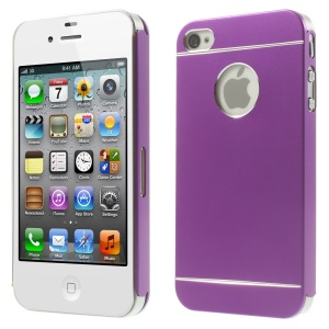 Purple for iPhone 4s 4 Slim Hard Metal Protective Shell