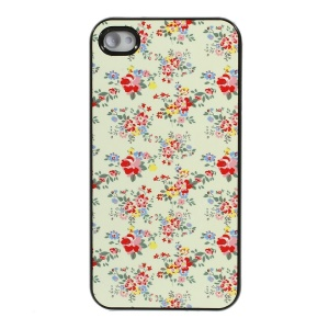 Elegant Floral Protective Plastic Back Case for iPhone 4s 4