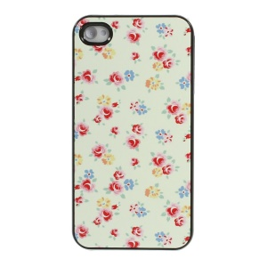 Beautiful Flowers Protective Plastic Back Cover for iPhone 4s 4