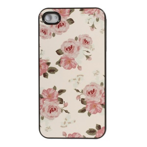 Spray Roses Protective Plastic Back Shell for iPhone 4s 4