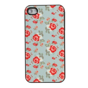 Pretty Floret Pattern Protective Plastic Back Shell for iPhone 4s 4
