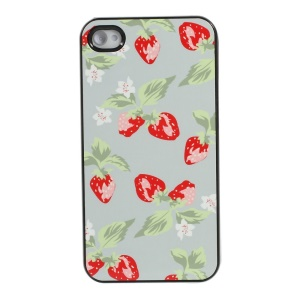 Strawberry Pattern Protective Plastic Hard Case for iPhone 4s 4