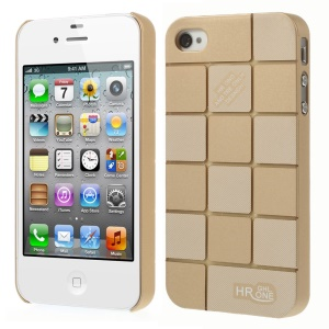Champagne Check Pattern Slim PC Hard Shell for iPhone 4s 4
