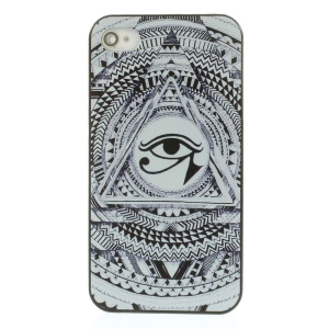 Eye of Horus Pattern Rubberized Plastic Hard Case for iPhone 4s 4