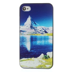 Mountain & Lake Rubberized Plastic Hard Cover for iPhone 4s 4