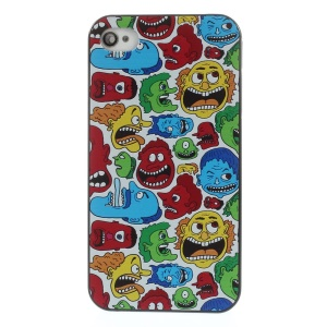Freak Men Heads Rubberized Plastic Hard Back Cover for iPhone 4s 4