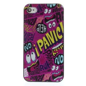 Quote i PANIC Rubberized Plastic Hard Back Shell for iPhone 4s 4