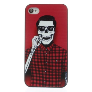 Skull Man Back Plastic Case for iPhone 4s 4