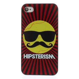 Hipsterism Cool Sun Hard Shield Case for iPhone 4s 4