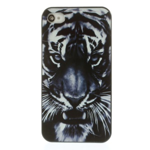 Vivid Angry Tiger Face Hard Plastic Shell Case for iPhone 4s 4