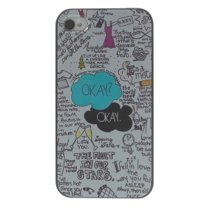 Quote OKAY in Cloud Hard Plastic Case for iPhone 4s 4