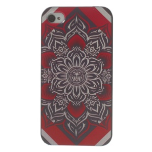 For iPhone 4s 4 Plastic Hard Back Shell - Moroccan Pattern