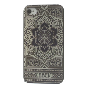 For iPhone 4s 4 Plastic Hard Back Prrotective Shell - Mandala Pattern