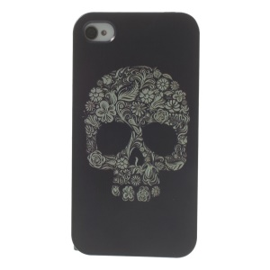 For iPhone 4s 4 Plastic Hard Back Prrotective Case - Sugar Skull Pattern