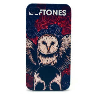 Rose & Owl Plastic Hard Case for iPhone 4s 4